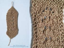 Knitting - Little Lace Bookmark by Jane-Rt