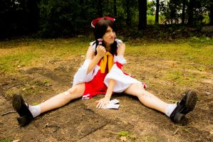 Defeated Reimu 10 - It won't be so easy next time! by simakai