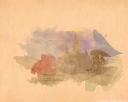 LoZ Watercolour Wallpaper by Raxby