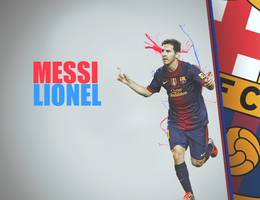 Messi Simple Design by AbOoD-Alhosnay-GFX