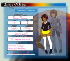 Legacy Academy: Alana 2014 by Red-RainGoddess