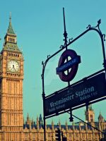 Westminster Station, London by onlycyn