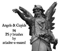Angels and Cupids brushes by ariadne-a-mazed