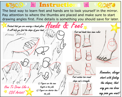 How to draw hand feet basic by annorekto