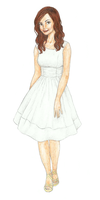 Louise Brealey-white dress by Xijalle