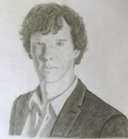 Benedict Cumberbatch as Sherlock by LindaGrevillius