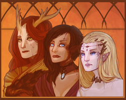 Queens by Weissidian
