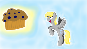 Derpy and the Muffin by Th3Stargazer