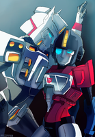 drift and perceptor by mizz-ninja