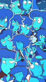 Lapis Lazuli tumblr collage wallpaper by LauriAtweh