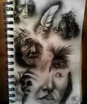 Native American sketches by Bonniemarie