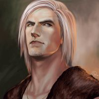 Quick painting. Master with his new hairstyle. ^^ by aenaluck