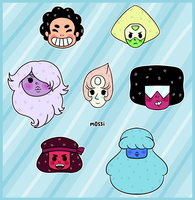 Steven Universe Stickers by m0ssi