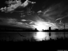 Black and white sunset by rockmylife