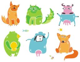 Cute set of animals by d-i-a-n-k-a
