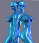 Liara Twins for Michael by PhilipMessina