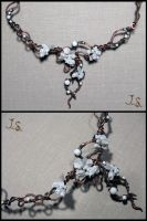 Snowy garden necklace, detail by JSjewelry