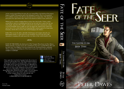 Fate of the Seer Wrap-Around Book Cover by theJRWesley