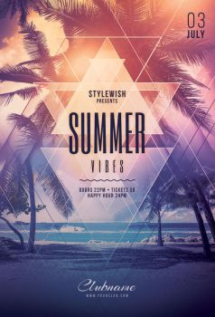 Summer Vibes Flyer by styleWish