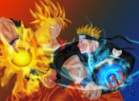 Son Goku vs. Naruto Uzumaki by NaeChaos13