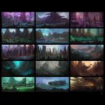 Environment sketches v1 by sancient
