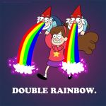 Gravity Falls: Double Rainbow by shiretoko