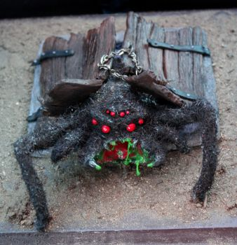 Basement Spider Front View by Debra-Marie