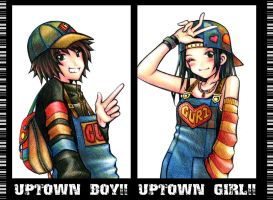 uptown boy and girl by guri-chan