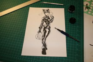 Catwoman Raw Ink by devgear