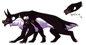 Hellhound Adoptable - CLOSED by Karijn-s-Basement