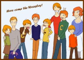 Here come the Weasley by Grouillote-oh