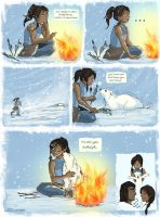When Korra Met Naga by svetea