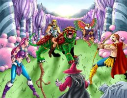 He-man, Battle Cat in Etheria by shawnmp