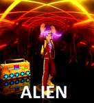 Glitch from Dance Central 2/3 - ALIEN by AeroxVentusxYuni