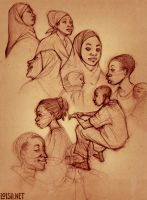 tanzania pencil sketches by loish