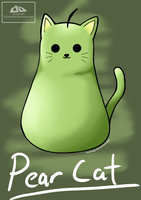 Food Cats - Pear Cat by Louiology