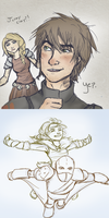 My HTTYD2 Teaser sketches by AvannaK