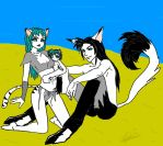 demon family by youkai-hime