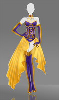 Adoptable Outfit Auction: The Gold Bellflower by Nagashia