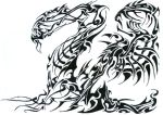 tribal dragon by phantomxxx