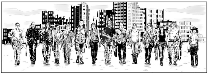 The Walking Dead - Comic Panel by SimonArtGuyBreeze