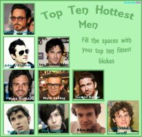 Top Ten Hottest Men by Skiebear