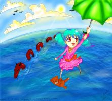 Fly me away, umbrella by Xp48