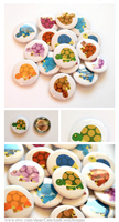Rainbow of Turtles - Pinback Button Set by artshell