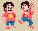 Steven Universe in Pixel Form by Tobuchi