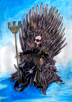 Metal God on the Iron throne by the-ChooK