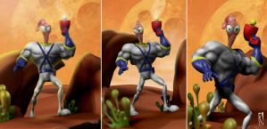 3D Earthworm Jim by klaatu81