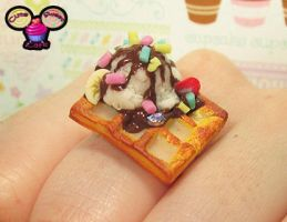 Birthday Icecream Waffle Ring by pinknikki