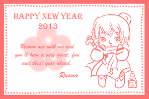 (Hetalia) HNY 2013 card from Russia to you by Hyperkaoru13