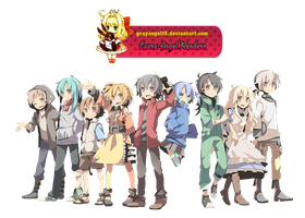 Render Kagerou Project by GrayAngel15